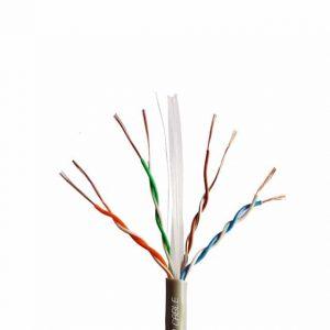 کابل شبکه CAT5E UTP لگراند با تست فلوک طول ۳۰۵ متر